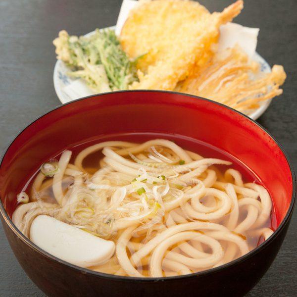 油炸蝦+烏龍麵