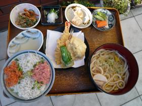 乌冬面(温),天妇罗,海鲜盖饭 (灿灿)